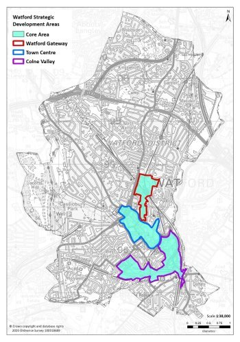 X:\Watford\05_Place_Shaping\03_Planning_Policy\SP2\SP2.3 WBC\SP2.3.5 NEW LOCAL PLAN 2036\Final Draft Plan\Local Plan Chapters\Consultation 2020\Illustrations for each chapter\MAPS\201030 Strategic Development Areas Map.jpg